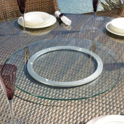 Luxury Outdoor Garden Glass Lazy Susan for Dining Table 600mm diameter