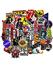 Elton 3M Vinyl Sticker Pack [50-PCS 3M Vinyl Musical & Assorted Stickers for Laptop, Cars, Motorcycle, PS4. X Box One Guitar Bicycle, Skateboard, Luggage - Waterproof Random Sticker Pack