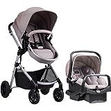 Evenflo Pivot Modular Travel System, Lightweight Baby Stroller, Sleek & Versatile, Easy Infant Car Seat Transfer, Oversized S