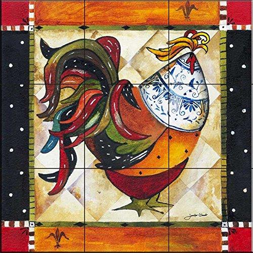 Fliesenwandbild - Tuscan Rooster I von Jennifer Garant - Küche Aufkantung / Bad Dusche (Roosters Küche)