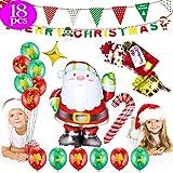 SunTop Globos de Navidad,Globos de Fiesta de Diversos Colores, Globos de Látex con Cintas,Globos de Fiesta de Colores Diversos