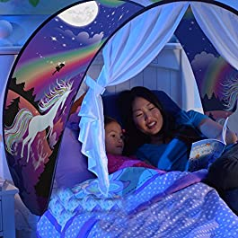 Nifogo Tende da Sogno, Magical World Tents, Kid's Fantasia Casa, Caldo Bambini Tenda (Einhorn)