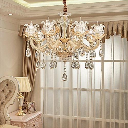 LED Kristall Kronleuchter Lobby Restaurant Schlafzimmer Wohnzimmer Deckenleuchte Pendelleuchte Beleuchtung (größe : 73 * 63cm(6 lights)) -