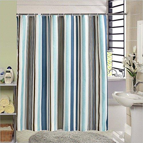JYJSYM Streifen duschvorhang, Home Bath Vorhang, Verdickung duschvorhang, плесени Polyester - Vorhang, Wasserdichte Bad, duschvorhang 180x180cm,Ein,200x200cm
