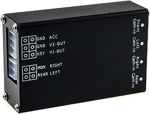 Maxxcount 4X Kamera-Switch für Front-, Seiten- und Heckkameras zur Kamera-Umschaltung Beim Einparken