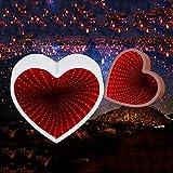 OUSENR Lámpara De Mesa 3D Creative Cloud Estrellas Lindo Corazón Luz De Noche Led Luces De Túnel De Luz De Espejo Para Niños Baby Buen Regalo Decoración,04