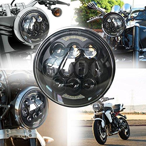 Kreuzung Ein Licht (LED 80W Leuchtturm 5.75Zoll Licht Motorrad-L225; mpara des Moto 5.75Zoll Angel Eyes Die Augen des 225; Ngel mit DRL Licht corretera-Kreuzung Licht für Harley Davidson Harley Davidson)