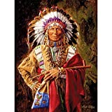 Bits and Pieces - 1000 Piece Jigsaw Puzzle for Adults - Chief of the Rosebud - 1000 pc Native American Jigsaw by Artist Paul Calle