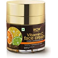 WOW Skin Science Vitamin C Face Cream - Oil Free, Quick Absorbing - For All Skin Types - No Parabens, Silicones, Color…