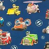 Stoffe Werning Baumwollstoff Lizenzstoff Paw Patrol Fahrzeuge marine - Preis gilt für 0,5 Meter