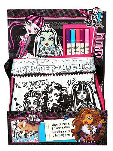 Undercover MHCP2420 - Umhängetasche zum Bemalen, Monster High, ca. 27 x 24 x 7 cm