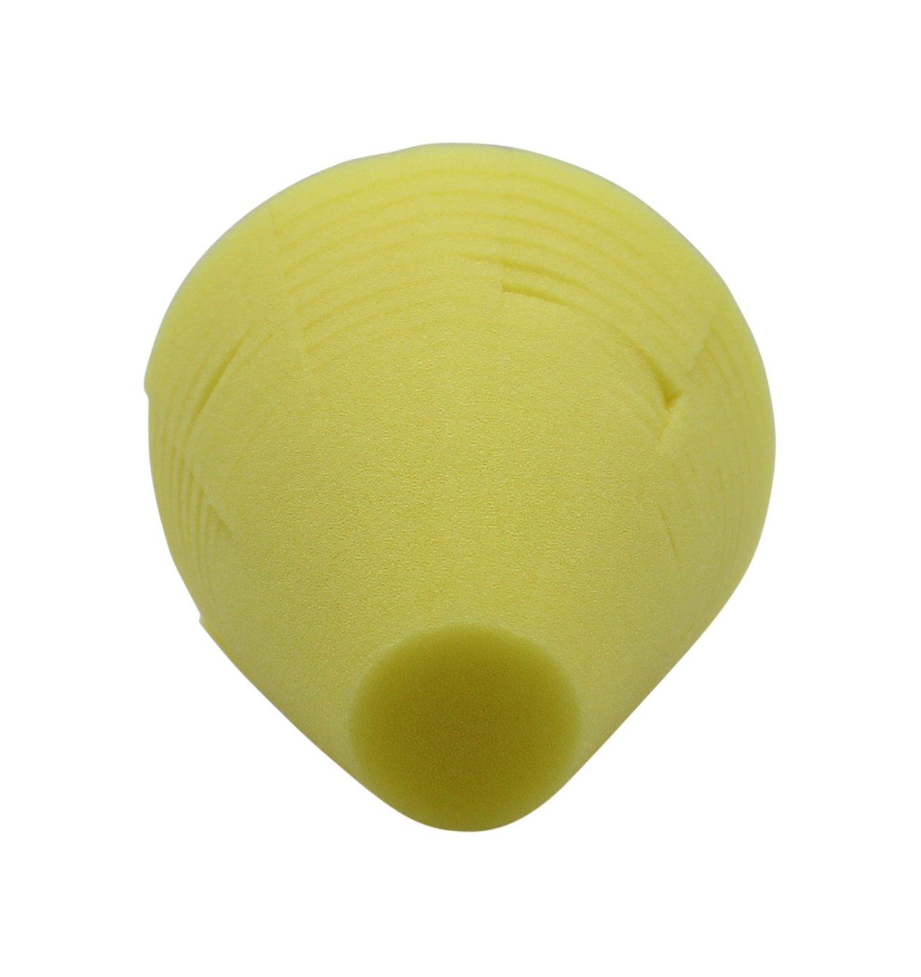 cleanofant lucidatura spugna duro giallo–lucidatura/Spugna per pulizia di inserto per trapano + Avvitatore a batteria. Giallo: abrasiv (staerkere schleif effetto)–Per Roulotte, Camper, Caravan