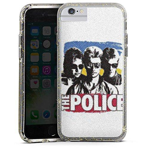 Apple iPhone 6s Plus Bumper Hülle Bumper Case Glitzer Hülle The Police Fanartikel Merchandise Merchandising Pour Supporters Bumper Case Glitzer gold