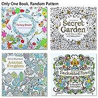 Prise Jardin secret aléatoire Motif: Un trésor à l'aventure et livre de coloriage pour adultes, temps de voyage au pays des merveilles d'exploration perdu Ocean Zen Mandaras (1pièce) series 1