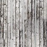 murando - PURO TAPETE selbstklebend 10m Wandtattoo dekorative Möbelfolie Dekorfolie Fotofolie Panel Wandaufkleber Wandposter Wandsticker - Holz Modern weiß f-C-0237-j-a