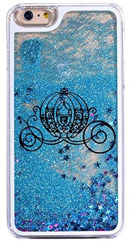 Schutzhülle für iPhone 8/7 (kompatibel, dynamisch, Hartschale, Glitzer-Bumper) - Cinderella Prinzessin Kürbis Auto mit Schloss