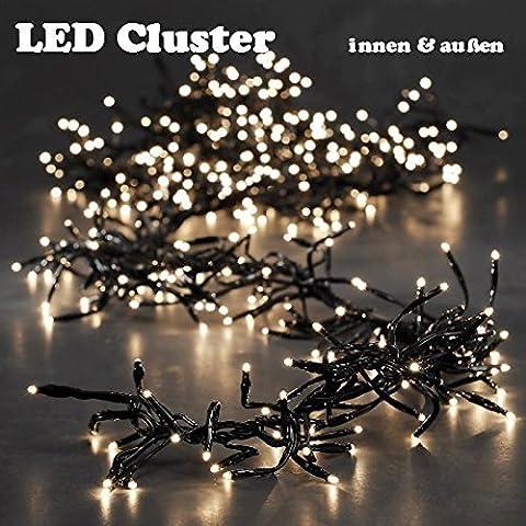 LED Cluster Lichterkette 1512er innen außen warm white 8 memory controller