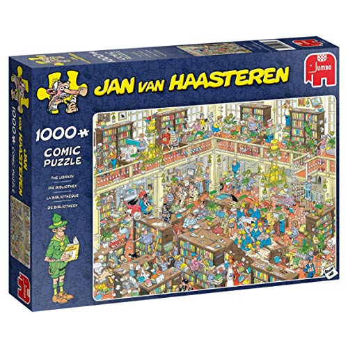 Jumbo 19092 - Jan Van Haasteren-The Library 1000 Teile Puzzle