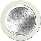 Bialetti Set Ersatzteile 3 Dichtungen mit 1 Filter für Moka, 4 Tassen, Aluminium, Weiß