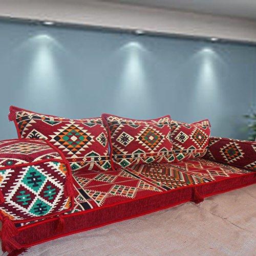 Étnico Tribal Majlis árabe de Oriente Medio turco Kilim alfombra estampada salón Hookah Barra Suelo Asiento Sofá Cama Muebles