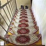 MEHE@ moda personalidad creativo Hogar Auto-cebado Alfombras antideslizantes Almohadillas para pies de Villa Almohadillas para Escaleras Esteras para Escaleras Alfombras de escalera ( Color : 10 Pcs , Tamaño : 24*75cm )