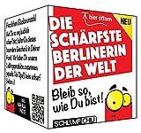 Die schärfste Berlinerin der Welt - ein witziges und originelles Geschenk zum Umzug, Neuanfang, Ostern, Frauentag, Weihnachten