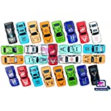 Moga | 25 Pcs Cars Set Of Kids Small Sports Cars , Multi Color Light Car Under 300 | Race Car Sets Toys For Boys Kids