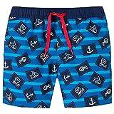 Schiesser Jungen Capt´N Sharky Swimshorts Badeshorts, Blau (Admiral 801), Herstellergröße: 116