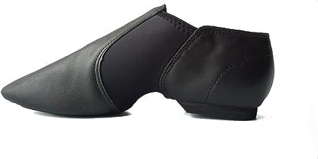 DANCEYOU Jazzschuhe Tanzschuhe Sportschuhe aus Weichem Leder Dance Schuhe mit Geteilter Sohle für Kinder und Erwachsenen in Gr. 25-41