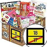 Ortsschild 18 ++ 18 Geburtstag Männer Geschenke ++ DDR Süßigkeiten