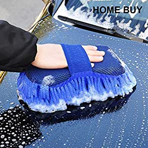 HOME BUY Multipurpose Microfibre Wash and Dry Cleaning Sponge (Color May Vary)