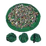 Zedtom Kinder Spielzeugsack Spielzeug Tasche Aufräumsack Spielwaren Organizer, Grün