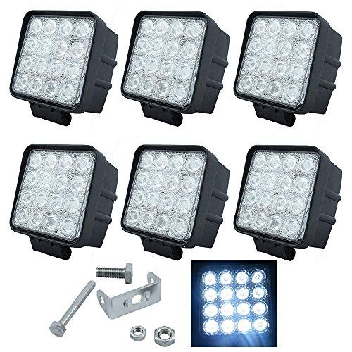 VINGO® 6X LED 48W Arbeitsscheinwerfer Scheinwerfer 12V 24V Wasserdicht Rückfahrscheinwerfer für - Wasserdichte Led-scheinwerfer