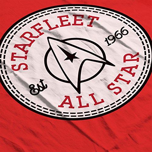 Star Trek Starfleet All Star Converse Logo Men's T-Shirt Red