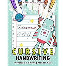 Cursive Handwriting Workbook and Coloring Book for Kids: A-Z Alphabet Letter for Robot Version (Daily beginner writing practice, Band 3)