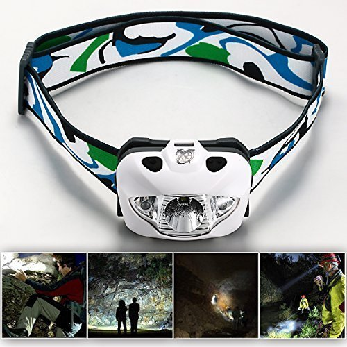 Xcellent Global Professional Compact 160 Lumens Cree R3 White Light LED Headlamp Headlight- Red, White, Flashing and Dimmable Modes Night Running, Hunting, Reading, Hiking, Fishing, Camping, Jogging, Walking and Other Outdoor Activity. With ONE YEAR Limited Warranty  M-LD037W