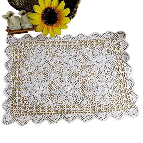 Yizunu - Mantel Rectangular algodón Encaje Ganchillo
