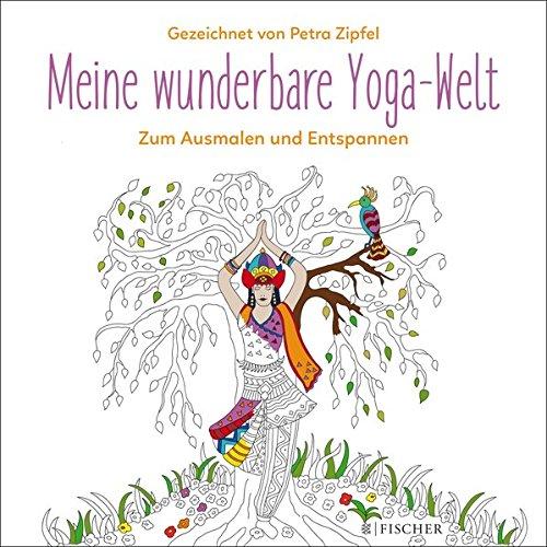 Buchseite und Rezensionen zu 'Meine wunderbare Yoga-Welt: Zum Ausmalen und Entspannen' von Petra Zipfel