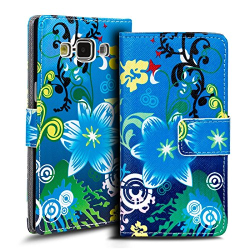 Verco Handyhülle Galaxy A5 2017 Muster, Motiv Hülle für Samsung Galaxy A5 A520 Book Case Flip Cover - Design 14