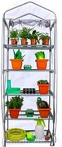 Folien-Gewächshaus 69 x 49 x 125 cm Treibhaus Frühbeet Pflanzenregal für Balkon