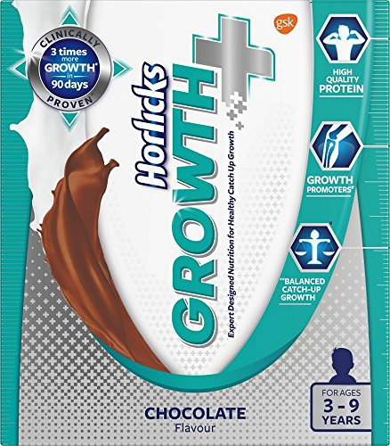 Horlicks Growth Plus – Health & Nutrition drink (Chocolate flavor) 200gm Refill...
