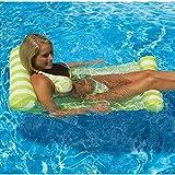 Zuwit Premium Swimming Pool Floating Water Hammock Travel Water Lounge Chair Headrest
