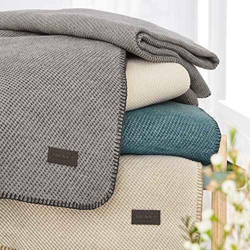 Ibena Babydecke Auckland, Naturhaardecke grau, Schmusedecke 070x100 cm, besonders weich und angenehm warm, Wolldecke aus 70% Biobaumwolle und 30% Bioschurwolle, Winterdecke in hochwertiger Qualität