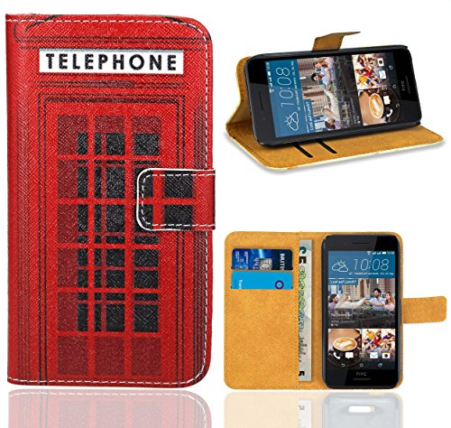 HTC Desire 728 728G Handy Tasche, FoneExpert Wallet Case Flip Cover Hüllen Etui Ledertasche Lederhülle Premium Schutzhülle für HTC Desire 728 728G