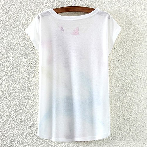 YICHUN Damen T-Shirt Mehrfarbig mehrfarbig One size Girl 12#