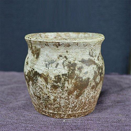 NOHOPE Sukkulenten Blumenkübel manuelle Retro Keramik kleine Vase Home Decor Vasen Ornamente,M/10.5*9.5cm