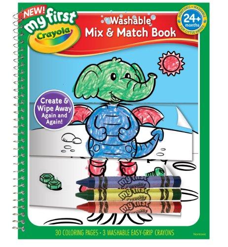 Crayola My First Crayola Mix and Match Coloring Book - Crayola Magic Coloring Book