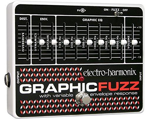 electro-harmonix Graphic Fuzz - Pedal de distorsión para guitarra, color plateado