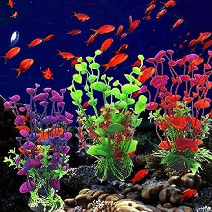 Sunlight House Plastic Artificial Aquatic Plants Aquarium Plants Landscaping Water Grass Decoration for Aquarium Fish… 2