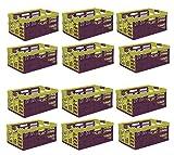 12 x Profi Klappbox mit softgriffen tropical 45 L bis 50 kg Faltbox Kiste Transportkiste Einkaufskorb Box